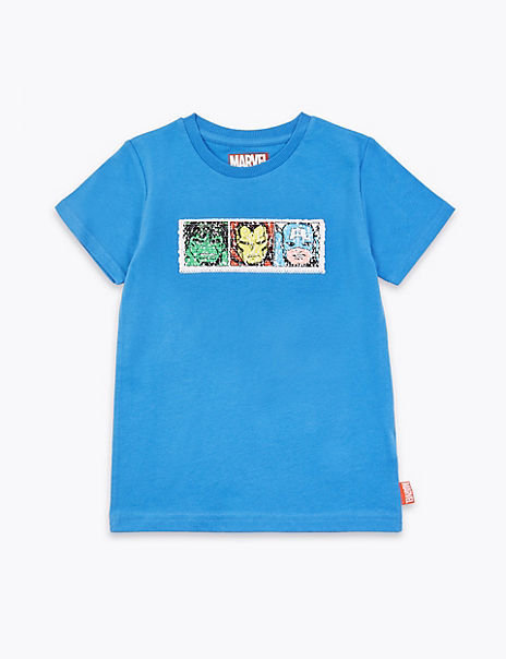 Marvel™ Colour Reversible Sequin T Shirt (2-7 Years)