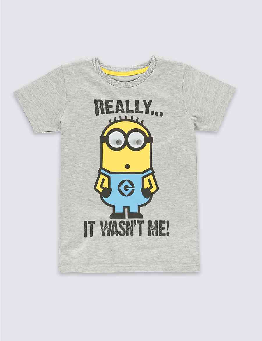 169e8fb2cbecd Despicable Me™ Minion Really It Wasn t Me Slogan T-Shirt (2-8 Years ...