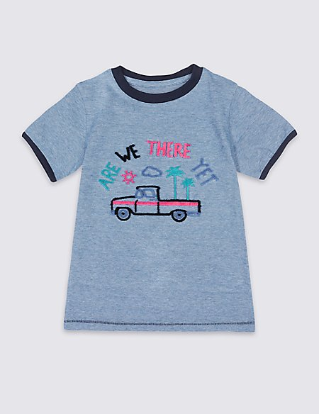 Pure Cotton Truck T-shirt (3 Months - 7 Years)