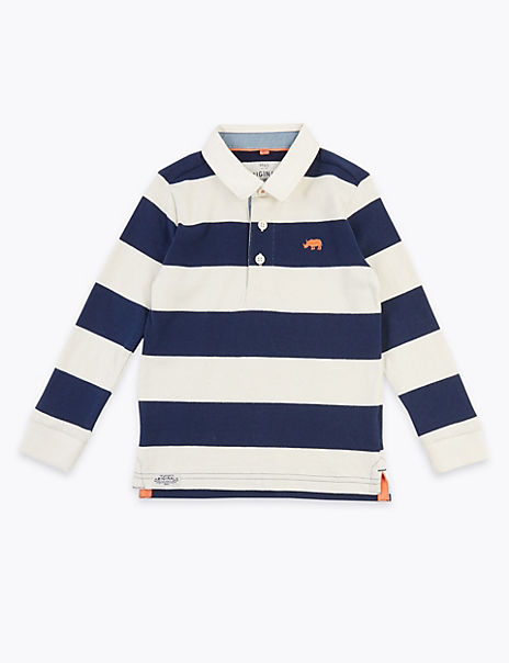 Cotton Bold Stripe Rugby Top (2-7 Years)
