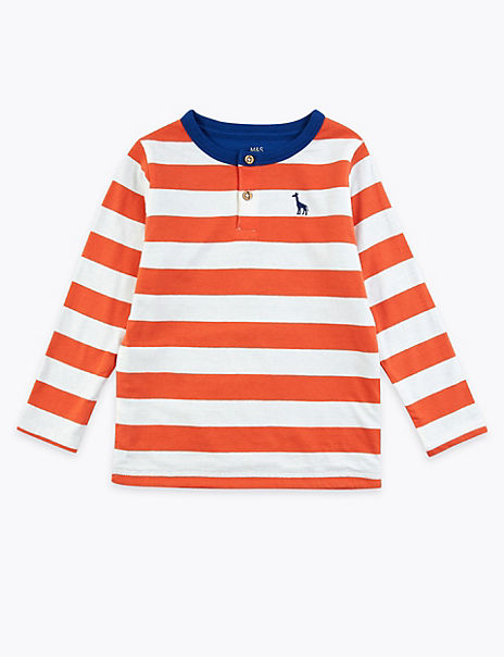 Cotton Striped Double Faced Top (2-7 Years)
