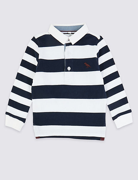 Striped Rugby Top (3 Months - 7 Years)