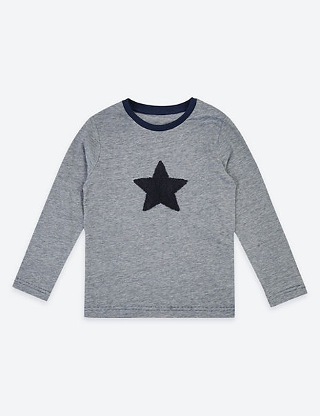 Pure Cotton Star Print Top (3 Months - 7 Years)