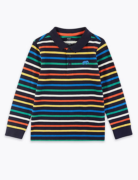 Cotton Striped Polo Shirt (2-7 Years)