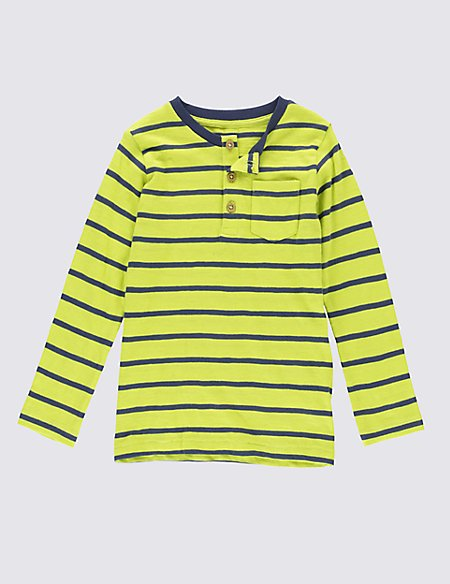 Pure Cotton Striped T-Shirt (1-7 Years)