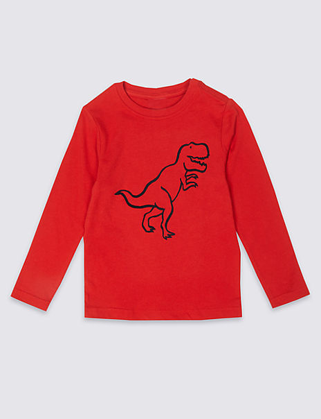 Easy Dressing Dinosaurs Top (3 Months - 7 Years)