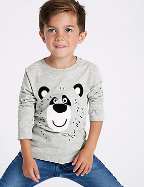 Cotton Rich Bear Top (3 Months - 7 Years)