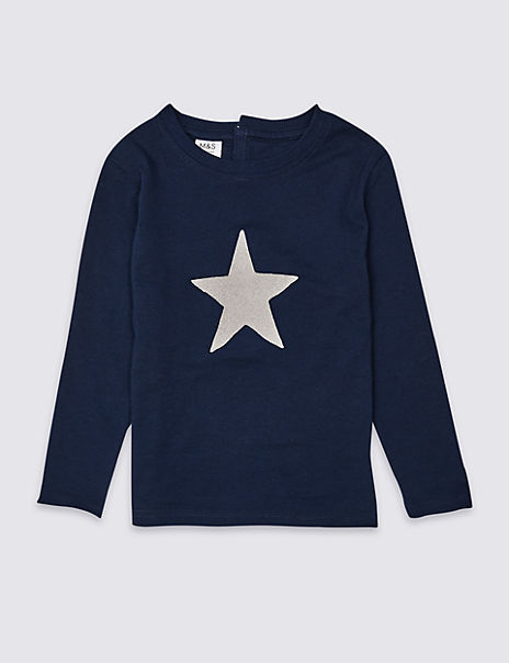 Pure Cotton Easy Dressing Star Top (3 Months - 7 Years)