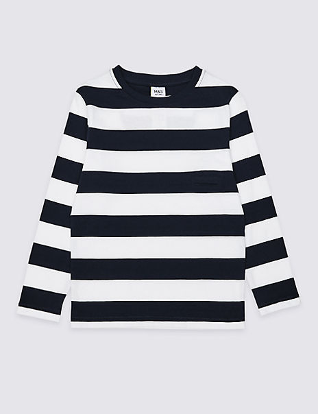 Pure Cotton Easy Dressing Striped Top (3 Months - 7 Years)