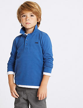 Pure Cotton Polo Shirt (3 Months - 7 Years)