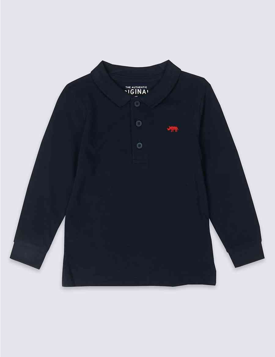 Pure Cotton Polo Shirt (3 Months - 7 Years)  ff4806ef410d
