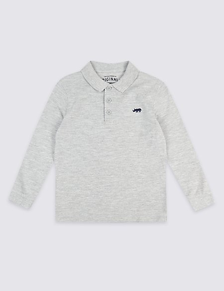 Cotton Rich Polo Shirt (3 Months - 7 Years)