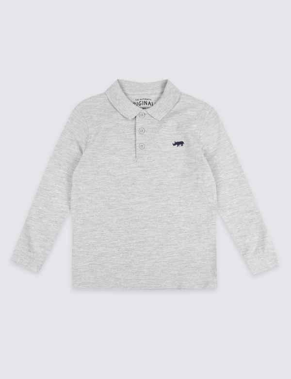 Rhinoceros Polo Shirt (3 Months - 7 Years) | M&S