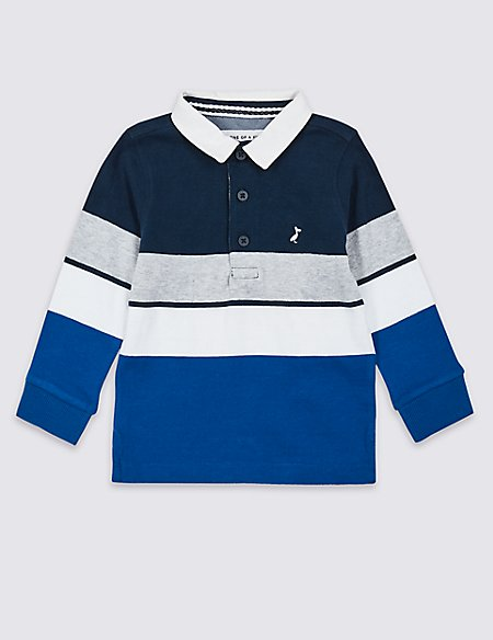 Pure Cotton Rugby Top (3 Months - 7 Years)