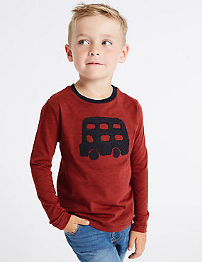 Pure Cotton Bus T-Shirt (3 Months - 7 Years)