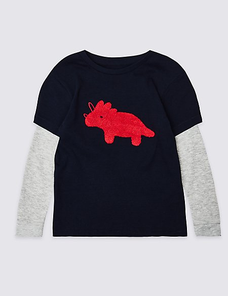 Pure Cotton Mock Top (3 Months - 7 Years)