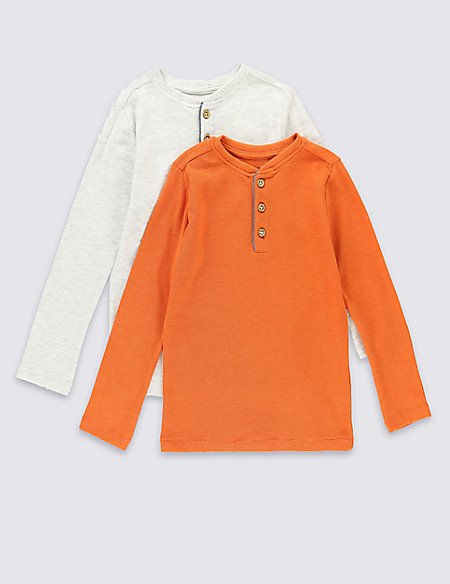 2 Pack Cotton Rich Waffle T-Shirt (1-7 Years)