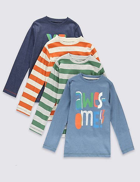 4 Pack Cotton Rich Assorted T-Shirt (1-7 Years)
