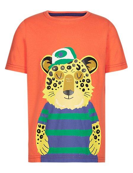 Pure Cotton Leopard Print T-Shirt