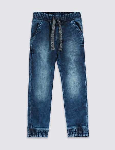 Cotton Rich Jogger Style Denim Jeans (1-7 Years)