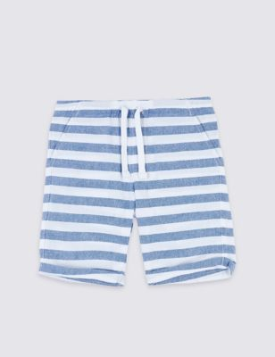 2637a7e530a9 Pure Cotton Striped Shorts (3 Months - 7 Years) £6.00 - £8.00