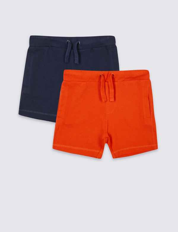 ff3a296acffce2 2 Pack Pure Cotton Shorts (3 Months - 7 Years)