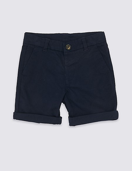 Cotton Shorts with Stretch (3 Months - 7 Years)