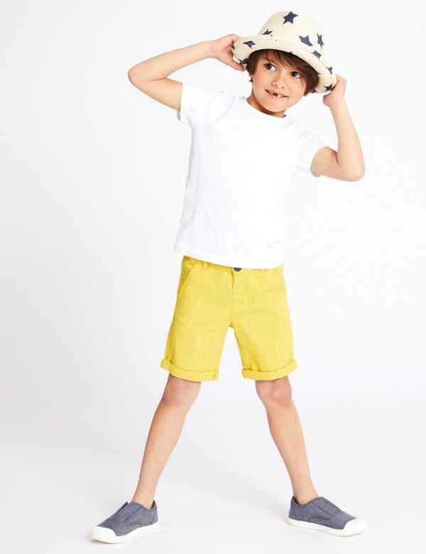 720106ce62ce Linen Blend Shorts (3 Months - 7 Years)