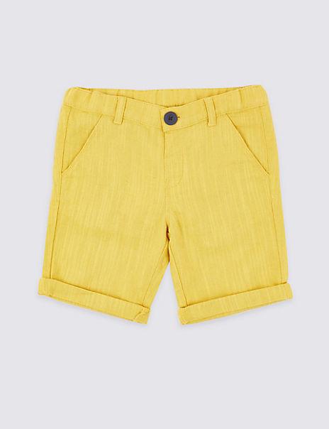 Linen Blend Shorts (3 Months - 7 Years)