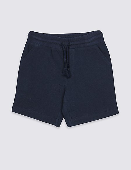 Pure Cotton Drawstring Shorts (3 Months - 7 Years)