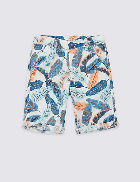 Pure Cotton Printed Shorts (3 Months - 7 Years)