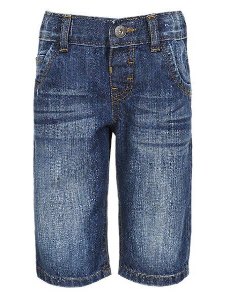 Pure Cotton Denim Shorts