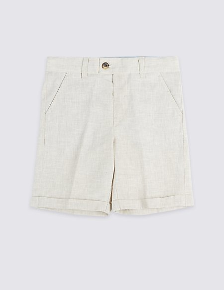 Linen Rich Shorts (3 Months - 7 Years)