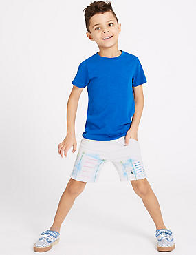 Cotton Rich Printed Shorts (3 Months - 7 Years)