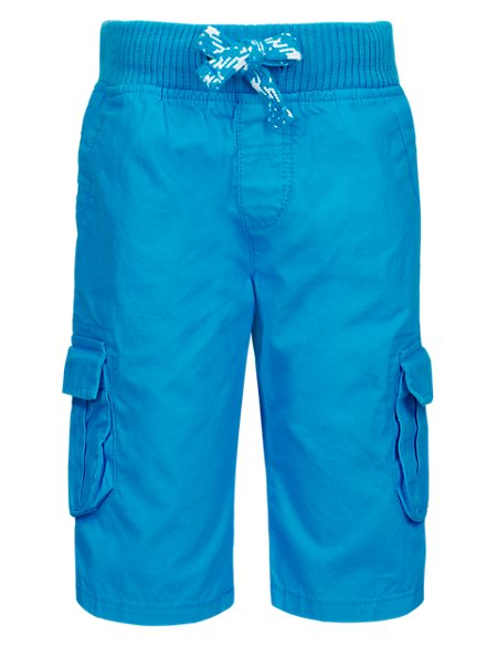 Pure Cotton Pull On Cargo Shorts