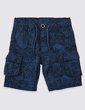Linen Rich Cargo Shorts (3 Months - 7 Years)