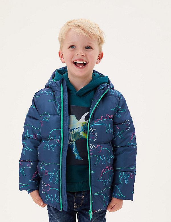 Manteau matelassé à motif dinosaure, doté de la technologie Stormwear™ (du 2 au 7ans)