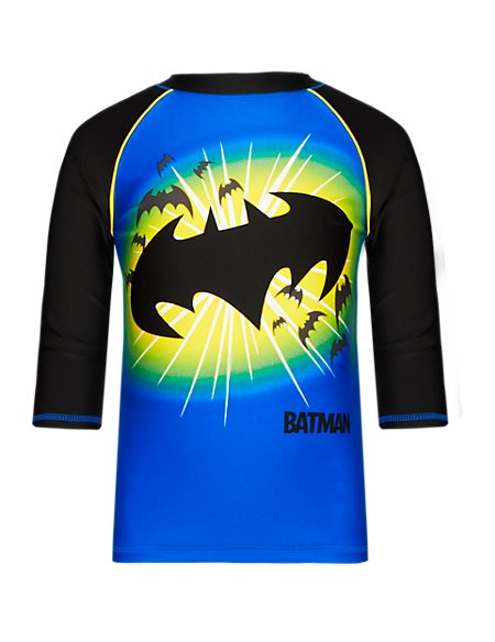 Batman™ Safe in the Sun Quick Dry Rash Boys Vest with Chlorine Resistant (1-7 Years)