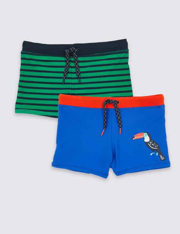 30b5f85240fc0 2 Pack Swim Trunks (3 Months - 7 Years)
