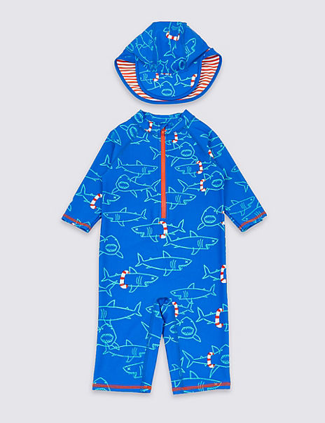 2 Piece Shark Swimsuit Set (3 Months - 7 Years)