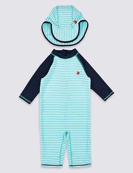 2 Piece Striped Swimsuit Set (3 Months - 7 Years)
