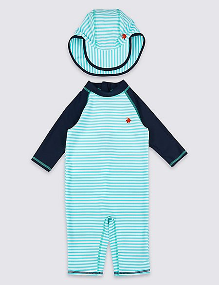 Swimsuit Set with Sun Smart UPF50+ (3 Months - 7 Years)