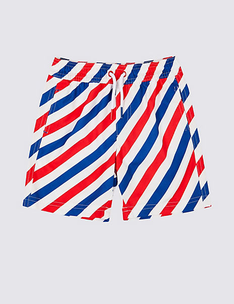 Sustainable Diagonal Striped Swim Shorts (3 Months - 7 Years)