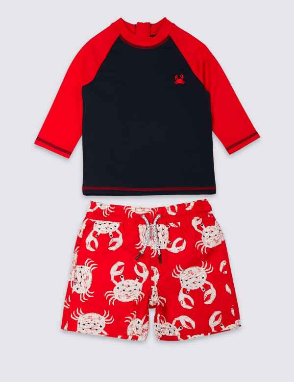 8a313cdd20d05 2 Piece Crab Swimsuit Set (3 Months - 7 Years)