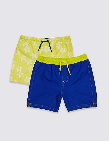 2 Pack Swim Shorts (0-8 Years)
