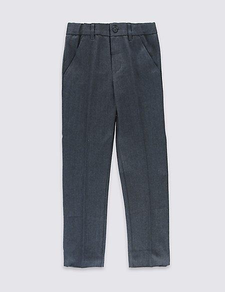 Pure Cotton Herringbone Formal Trousers (1-7 Years)
