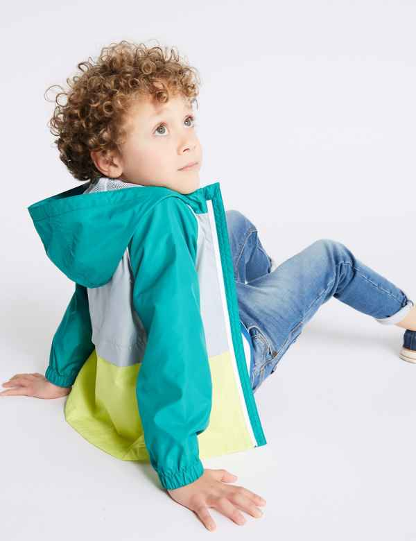 d28cdff2f Colour Block Hooded Jacket (3 Months - 7 Years)