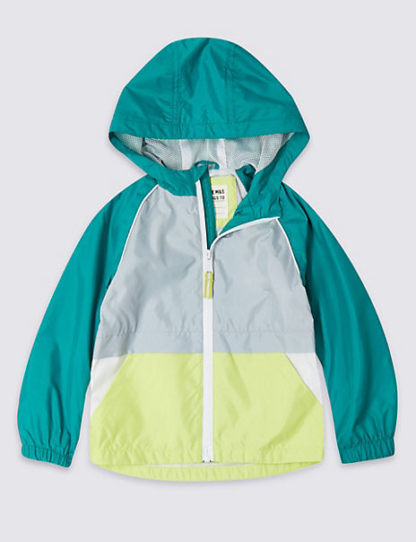 Colour Block Hooded Jacket (3 Months - 7 Years)