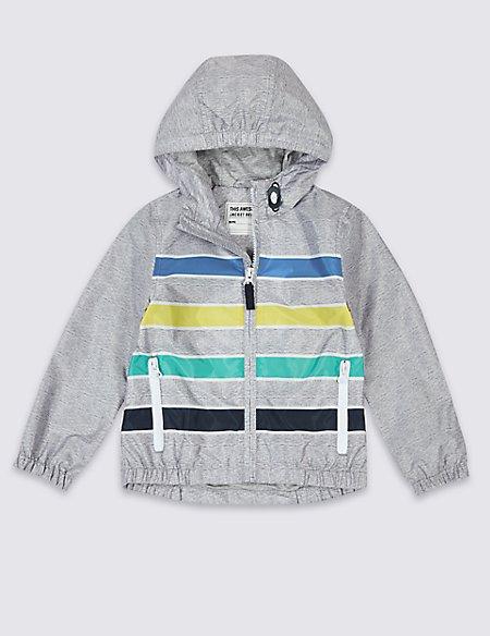 Striped Windbreaker Jacket (3 Months - 7 Years)