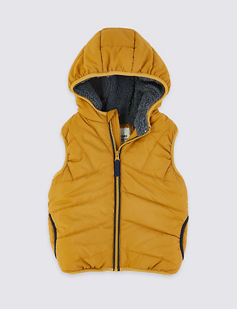 Borg Lined Hooded Gilet (3 Months - 7 Years)